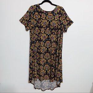 Lularoe Carly Floral High Low Swing Dress, Size XL